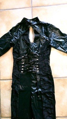 Conjunto de lencería negro tejido mezclado