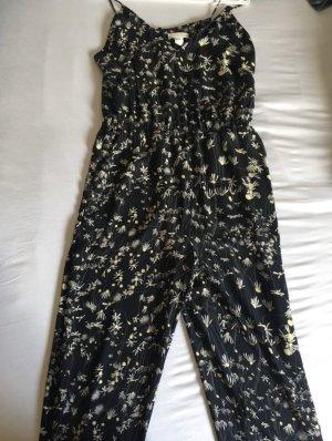 H&M Conscious Collection Jumpsuit black-natural white