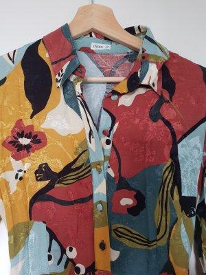 Langer Overall mit Blumen Oysho