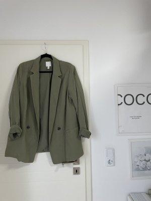 H&M Boyfriend blazer khaki-groen-grijs