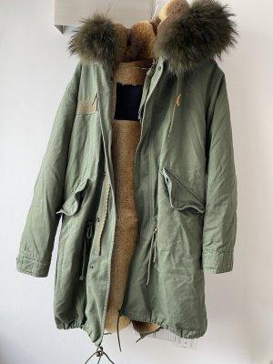 Miss & Furs Parka grigio-verde-cachi