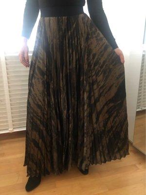 Enza costa Falda plisada negro-color bronce