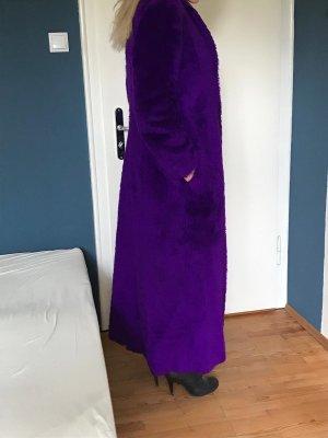 Cappotto lungo fino a terra viola scuro