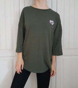 Langer Pulli Pullover oversize khaki kaki grün sweater cardigan hoodie shirt tshirt t-shirt
