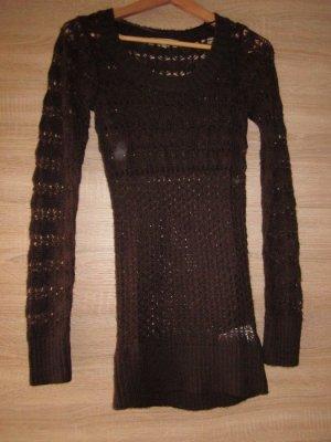 Clockhouse Long Sweater brown mixture fibre