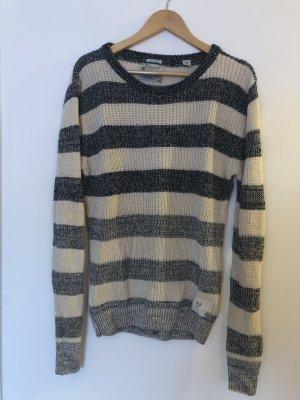 Scotch & Soda Długi sweter w kolorze białej wełny-ciemnoniebieski