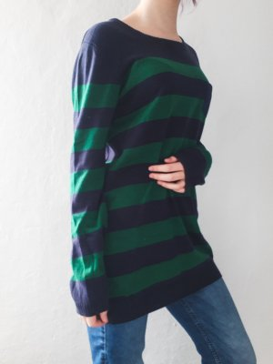 Langer Pullover gestreift