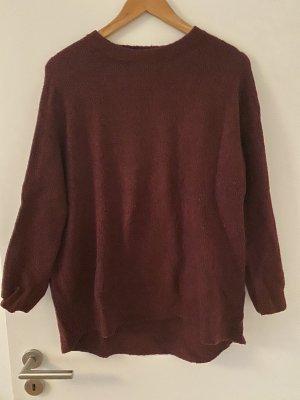 Langer Pullover in Bordeaux