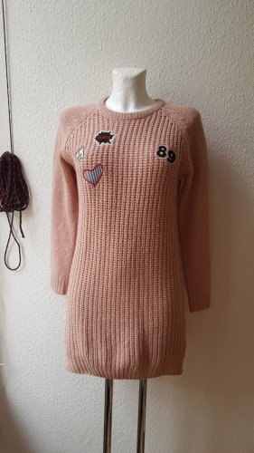 Sweater Dress dusky pink-pink