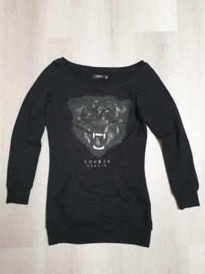 Langer Pullover mit Tiger-Design von Look 54 Berlin