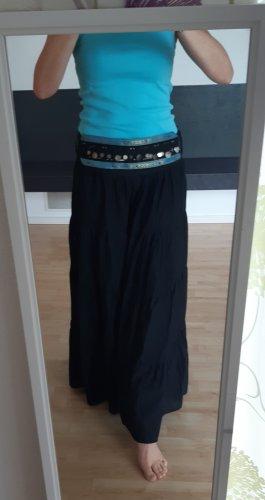 17&co Maxi Skirt black-light blue cotton