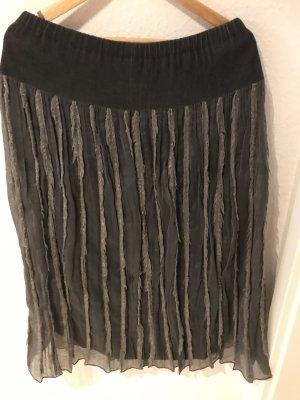 Clasen Falda estilo Crash gris pizarra tejido mezclado