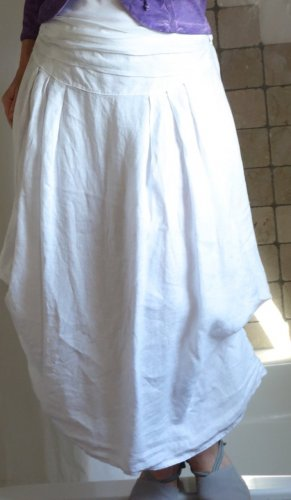 Made in Italy Jupe en lin blanc lin