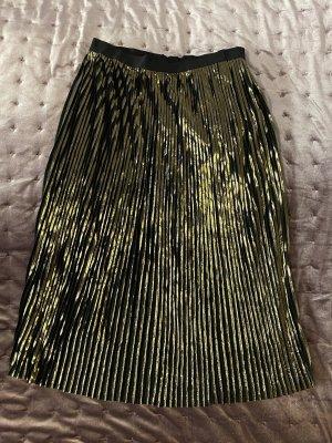 Plisowana spódnica czarny-złoto