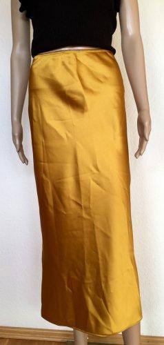 Topshop Falda larga naranja dorado