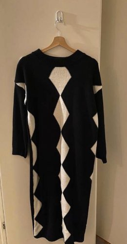 Jupe tricotée noir-blanc