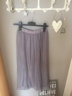 Maxi rok grijs-paars-mauve