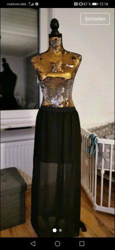 H&M Falda larga negro