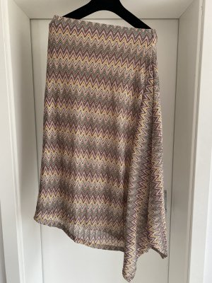 Reserved Asymmetry Skirt multicolored