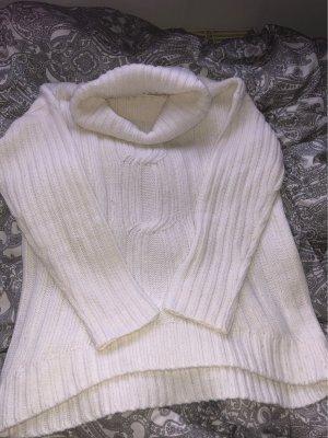 Blue Motion Sweter z golfem w kolorze białej wełny