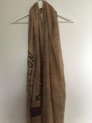 Langer Schal in Beige