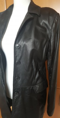 JP Collection Cappotto in pelle nero