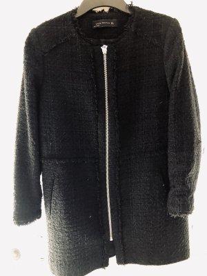 Langer schwarzer Mantel/Blazer