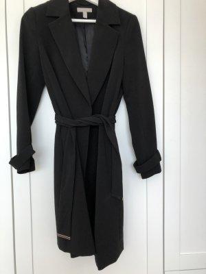 Langer schwarzer Mantel - Nie getragen