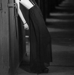 H&M Divided Maxi Skirt black