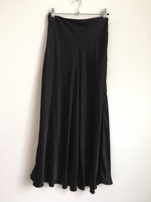 Zara Falda larga negro Viscosa