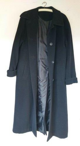 Langer schwarzer Wollmantel von C&A Größe 40