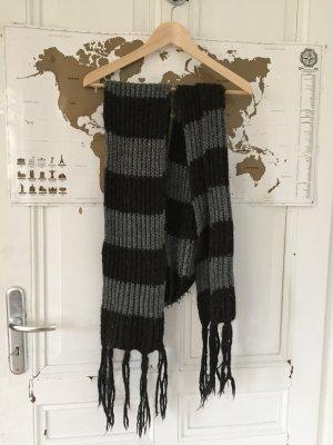 Sciarpa di lana nero-argento