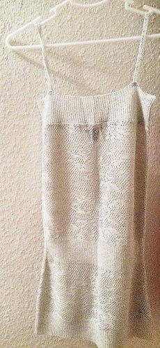 Langer silberner Stricktop im Metallic-Look von H&M, Gr. S
