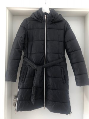 Jean Pascale Quilted Coat black-silver-colored