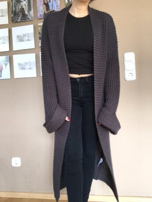 NA-KD Knitted Coat anthracite