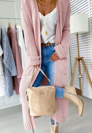 Oversized Coat rose-gold-coloured