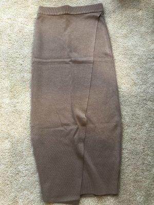mc lorene Spódnica z dzianiny szaro-brązowy-jasnobrązowy