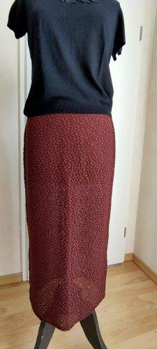 Marc Cain Jupe tricotée rouille tissu mixte