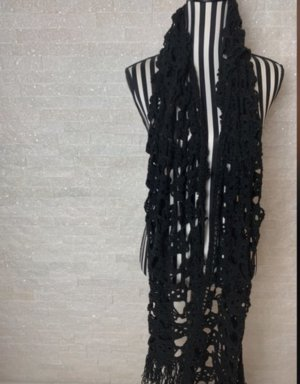 Handmade Bufanda de punto negro