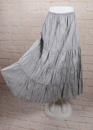 Jupe superposée gris clair polyester