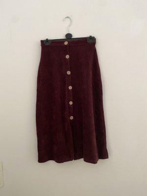 Pull & Bear Maxi Skirt bordeaux