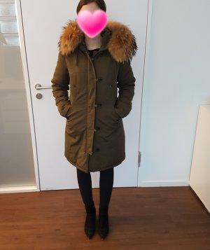 Manteau de fourrure multicolore polyester