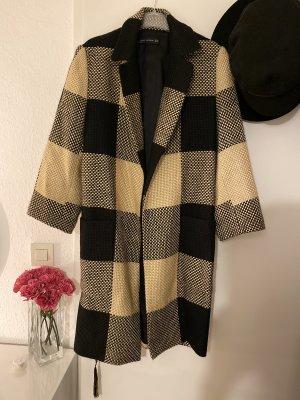 Zara Cappotto in lana nero-color cammello