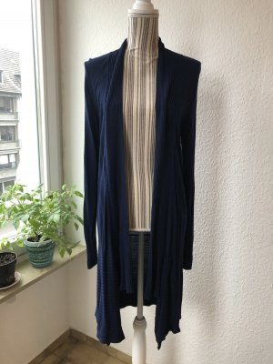 Knitted Coat dark blue