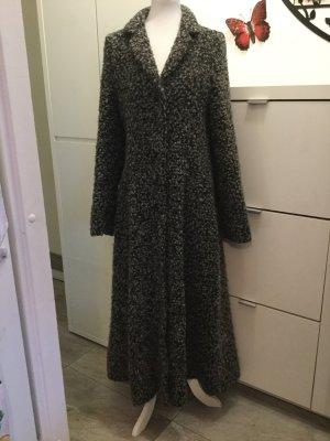 Cappotto in lana nero-argento Lana