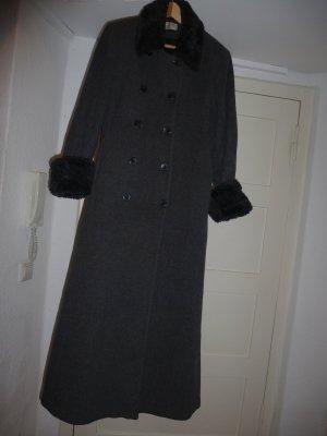 Abrigo largo gris antracita-gris Lana