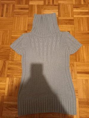 Langer Wollpullover mit Rollkragen