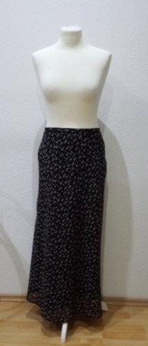 Langer, wundervoller Designer Blumenrock in Größe 34/36, schwarz weiß.