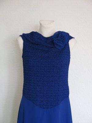 Szyfonowa sukienka niebieski Wiskoza