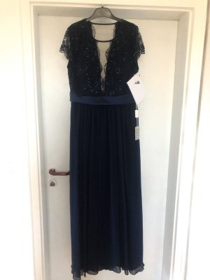 Langes Abendkleid in blau NEU